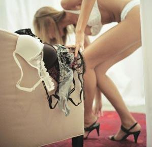 Поб платьем